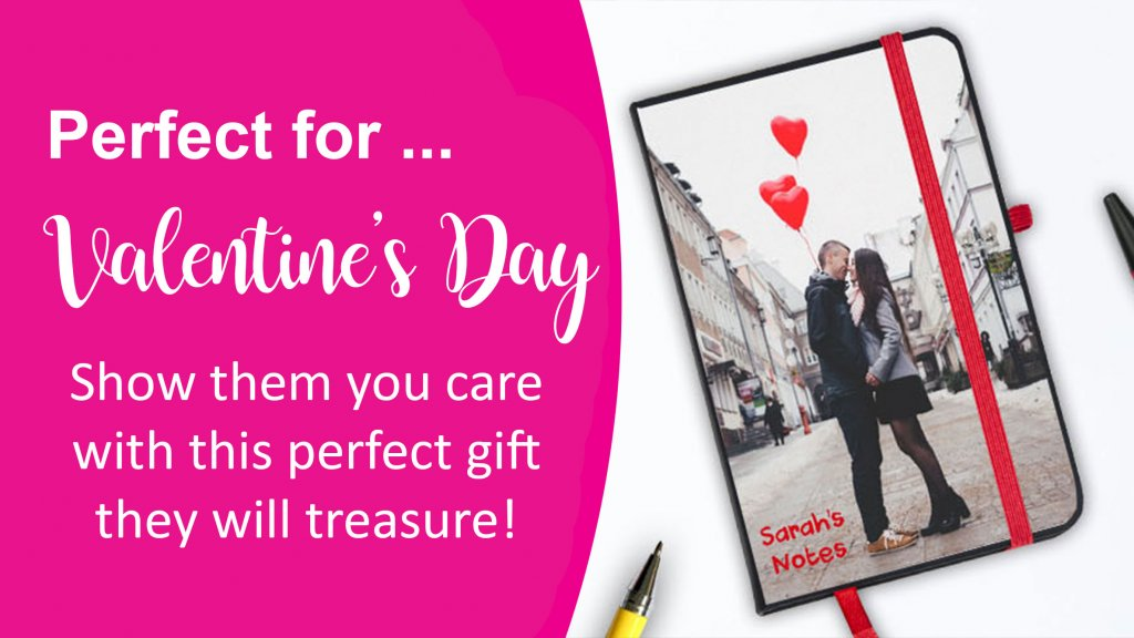 Valentine's day notebooks from personalised notebook